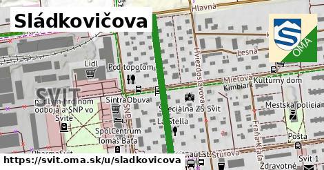 ilustrácia k Sládkovičová, Svit - 326m