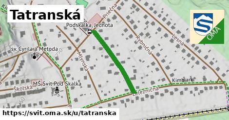 ilustračný obrázok k Tatranská, Svit