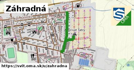 ilustrácia k Záhradná, Svit - 603m