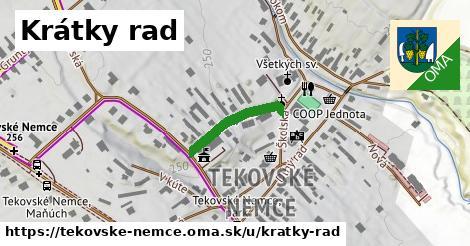 ilustrácia k Krátky rad, Tekovské Nemce - 172m