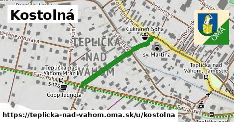 ilustrácia k Kostolná Ulica, Teplička nad Váhom - 274m