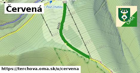 ilustrácia k Červená, Terchová - 0,75km