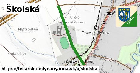 Školská, Tesárske Mlyňany