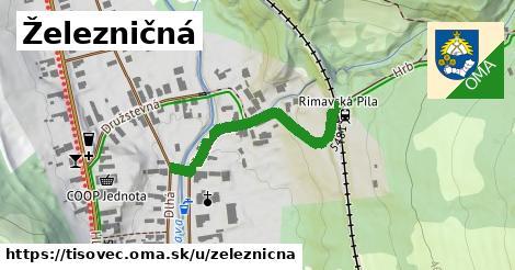 ilustrácia k Železničná, Tisovec - 554m