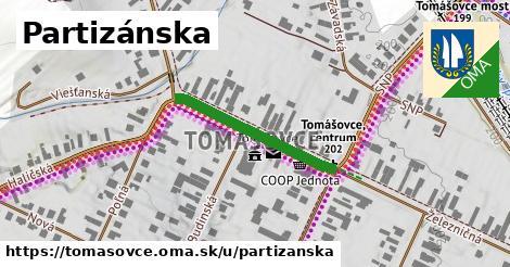 ilustrácia k Partizánska, Tomášovce - 268m