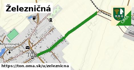 ilustrácia k Železničná, Tôň - 0,83km