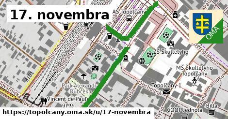 ilustračný obrázok k 17. novembra, Topoľčany