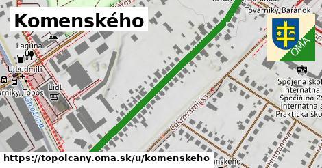 ilustračný obrázok k Komenského, Topoľčany