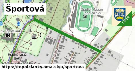 ilustrácia k Športová, Topoľčianky - 414m