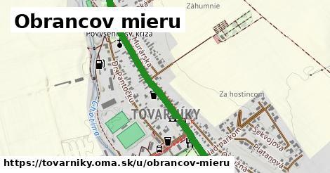 ilustrácia k Obrancov mieru, Tovarníky - 1,73km