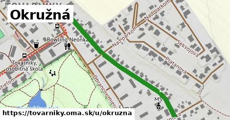 ilustrácia k Okružná, Tovarníky - 488m