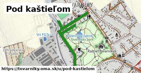 ilustrácia k Pod kaštieľom, Tovarníky - 1,10km