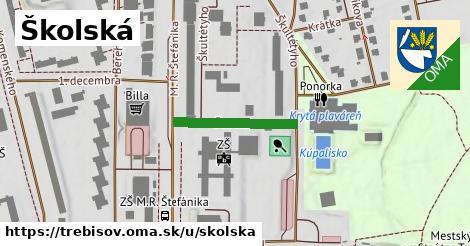 Školská, Trebišov