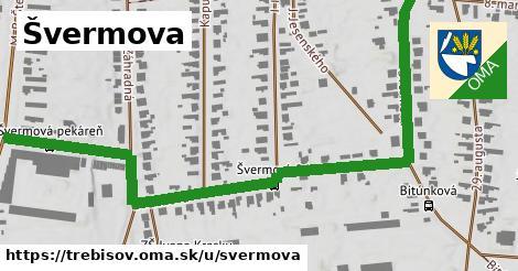 ilustrácia k Švermova, Trebišov - 1,01km
