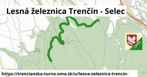 ilustrácia k Lesná železnica Trenčín - Selec, Trenčianska Turná - 3,1km