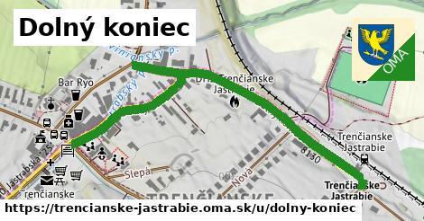 ilustrácia k Dolný koniec, Trenčianske Jastrabie - 0,72km