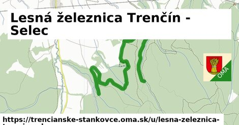 ilustrácia k Lesná železnica Trenčín - Selec, Trenčianske Stankovce - 4,5km