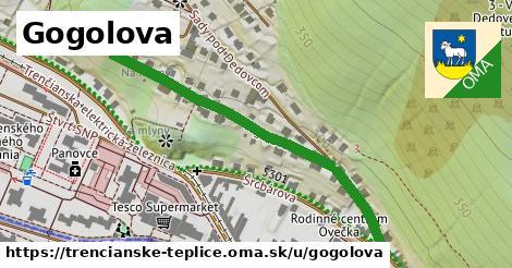 ilustrácia k Gogolova, Trenčianske Teplice - 657m