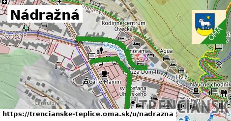ilustrácia k Nádražná, Trenčianske Teplice - 492m