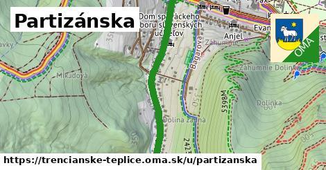ilustrácia k Partizánska, Trenčianske Teplice - 1,12km