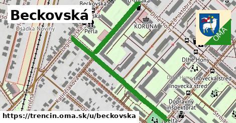 ilustrácia k Beckovská, Trenčín - 622m