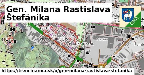 ilustrácia k Gen. Milana Rastislava Štefánika, Trenčín - 3,9km