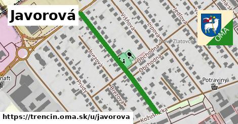 ilustrácia k Javorová, Trenčín - 398m