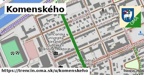 ilustračný obrázok k Komenského, Trenčín