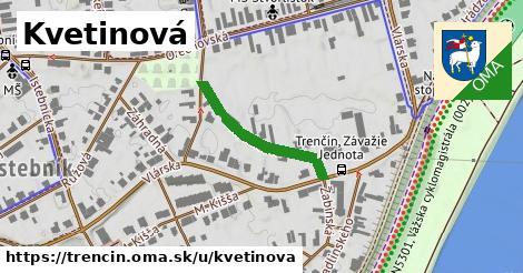 ilustrácia k Kvetinová, Trenčín - 236m