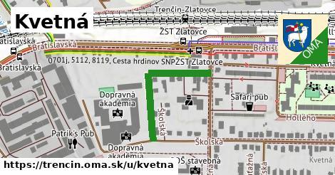 ilustrácia k Kvetná, Trenčín - 285m