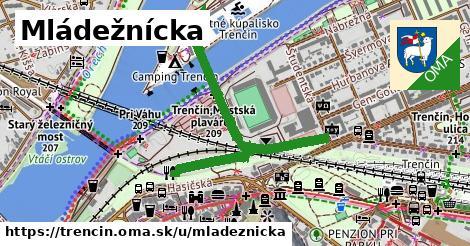 ilustrácia k Mládežnícka, Trenčín - 479m