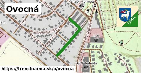 ilustrácia k Ovocná, Trenčín - 318m
