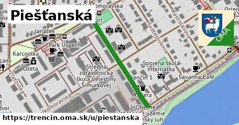 ilustrácia k Piešťanská, Trenčín - 327m