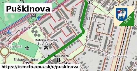 ilustrácia k Puškinova, Trenčín - 555m