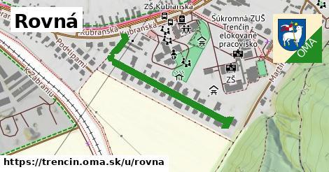 ilustrácia k Rovná, Trenčín - 366m