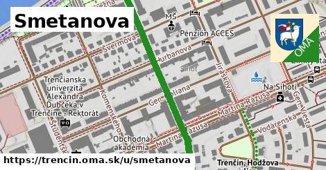 ilustrácia k Smetanova, Trenčín - 450m