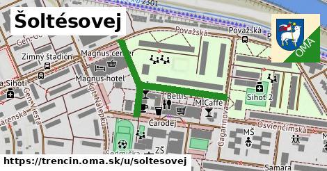 ilustrácia k Šoltésovej, Trenčín - 381m