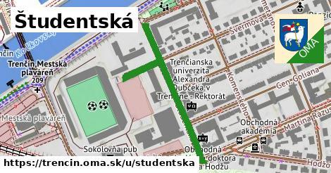 ilustrácia k Študentská, Trenčín - 338m