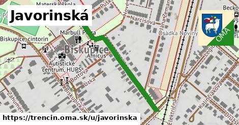 ilustrácia k Javorinská, Trenčín - 385m