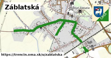 ilustrácia k Záblatská, Trenčín - 1,60km