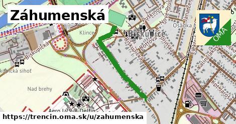 ilustrácia k Záhumenská, Trenčín - 617m