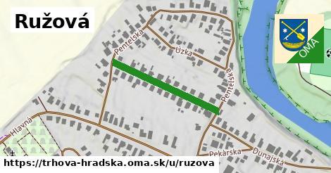 ilustrácia k Ružová, Trhová Hradská - 264m