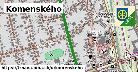 ilustračný obrázok k Komenského, Trnava