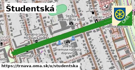 ilustrácia k Študentská, Trnava - 1,28km