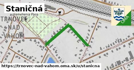 ilustrácia k Staničná, Trnovec nad Váhom - 332m