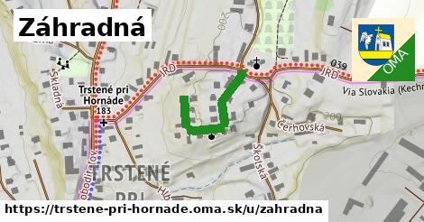 ilustrácia k Záhradná, Trstené pri Hornáde - 236m