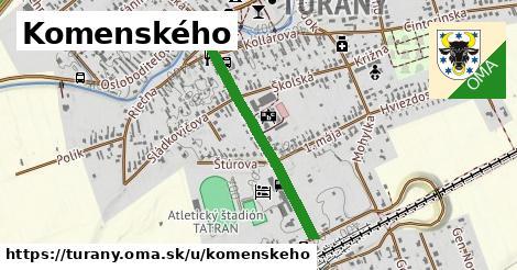 ilustrácia k Komenského, Turany - 668m