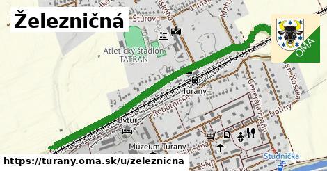 ilustrácia k Železničná, Turany - 1,16km