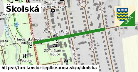 ilustračný obrázok k Školská, Turčianske Teplice