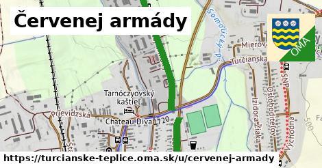 Červenej armády, Turčianske Teplice
